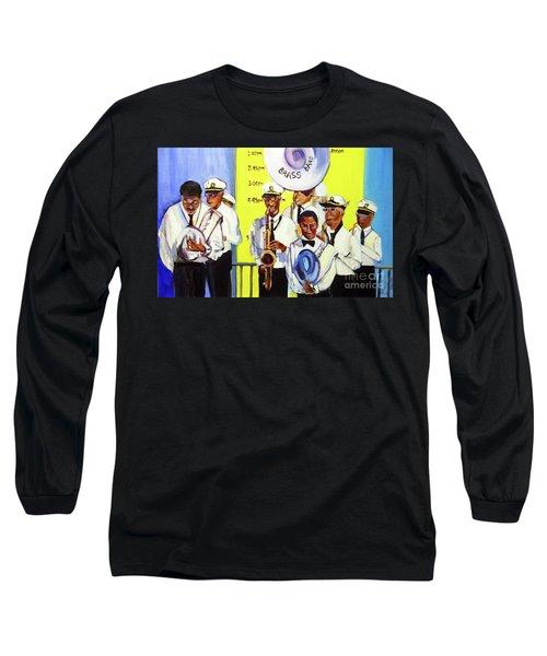 Brass Of  Class New Orleans Long Sleeve T-Shirt by Ecinja Art Works