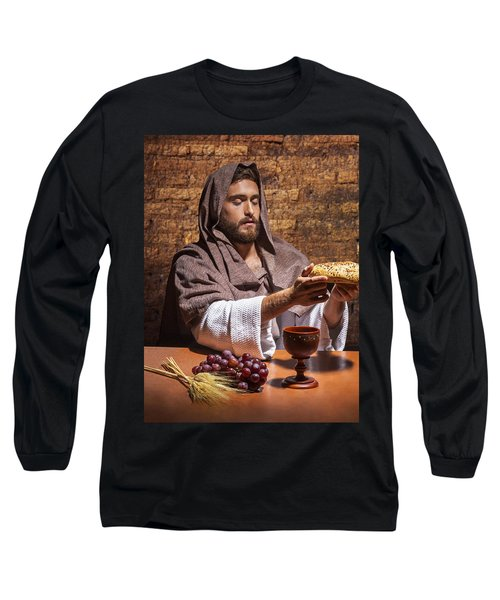 Long Sleeve T-Shirt featuring the painting Bread Of Life by Karen Showell
