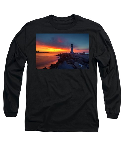 Break Of Day At Walton Lighthouse Long Sleeve T-Shirt