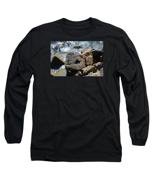 Long Sleeve T-Shirt featuring the photograph Breakwall by Steed Edwards