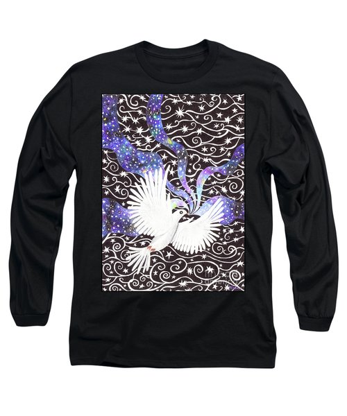 Breathing Life Into Darkness Long Sleeve T-Shirt by Lise Winne