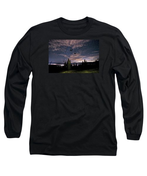 Breckenridge Chairlift Under Stars Long Sleeve T-Shirt
