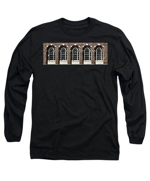 Long Sleeve T-Shirt featuring the photograph Brick Arch Windows by Brad Allen Fine Art