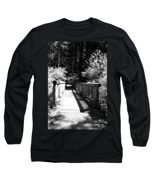 Long Sleeve T-Shirt featuring the photograph Bridge In Woods by Yulia Kazansky