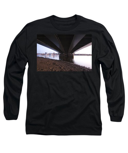 Long Sleeve T-Shirt featuring the photograph Bridge Over Wexford Harbour by Ian Middleton