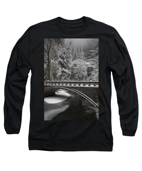 Bridges Of Multnomah Falls Long Sleeve T-Shirt by Wes and Dotty Weber