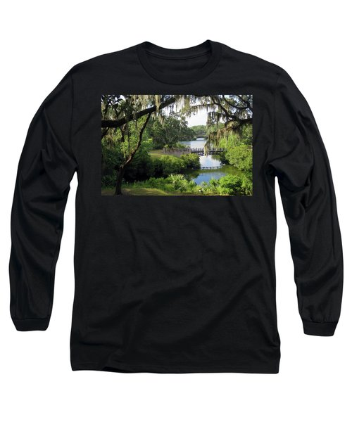 Bridges Over Tranquil Waters Long Sleeve T-Shirt