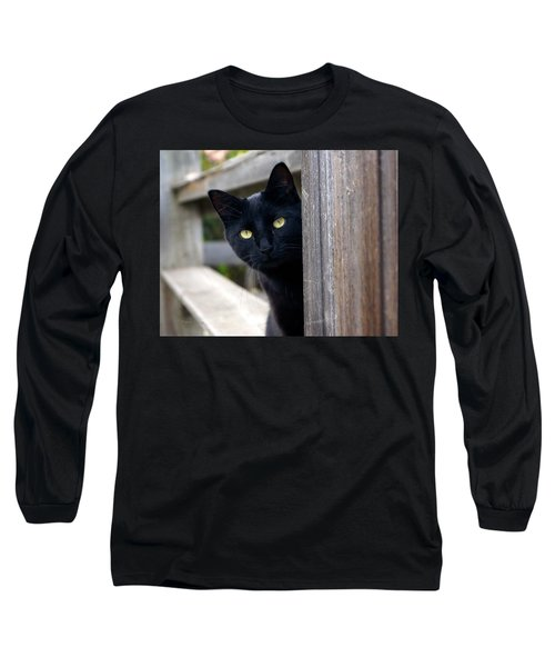 Bright Eyed Kitty Long Sleeve T-Shirt