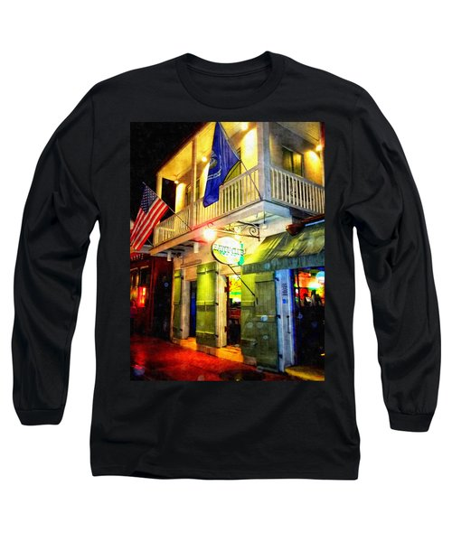 Bright Lights In The French Quarter Long Sleeve T-Shirt