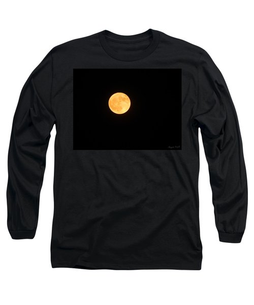 Bright Orange Moon Long Sleeve T-Shirt