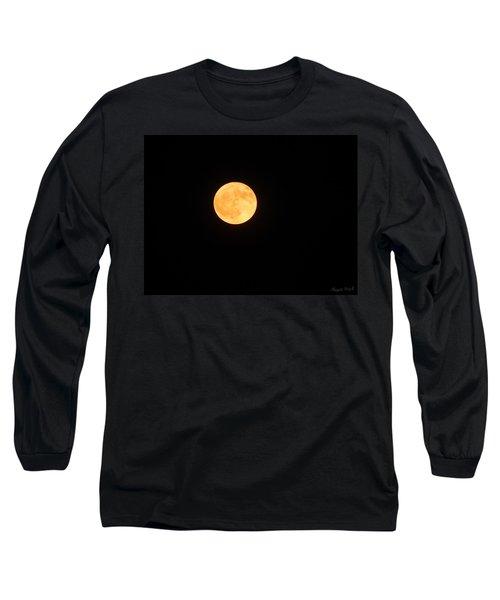 Bright Orange Moon Long Sleeve T-Shirt