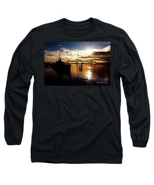 Bright Time On The River Long Sleeve T-Shirt by Scott Pellegrin