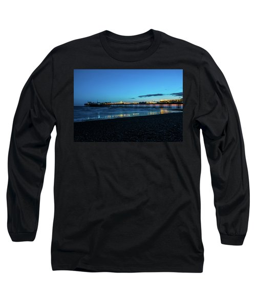 Brighton Pier At Sunset Ix Long Sleeve T-Shirt