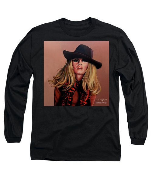 Brigitte Bardot Painting 1 Long Sleeve T-Shirt