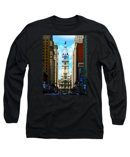 Long Sleeve T-Shirt featuring the photograph Philadelphia by Christopher Woods