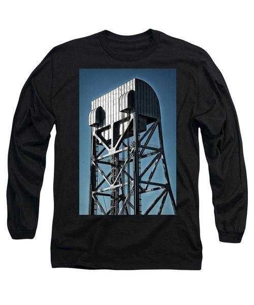 Broadway Bridge South Tower Detail 2 Chromatic Long Sleeve T-Shirt
