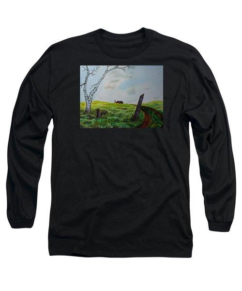Broken Fence Long Sleeve T-Shirt by Jack G  Brauer