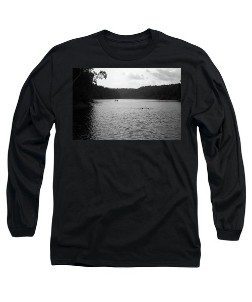 Long Sleeve T-Shirt featuring the photograph Brookfield, Vt - Swimming Hole Bw 2 by Frank Romeo