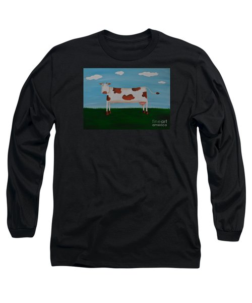 Brown Spotted Cow Long Sleeve T-Shirt