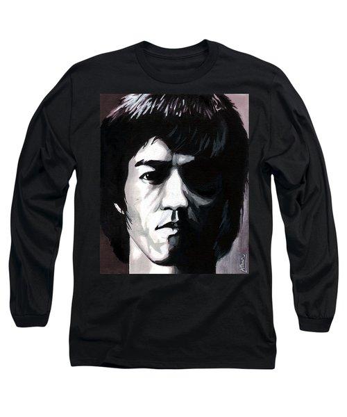 Bruce Lee Portrait Long Sleeve T-Shirt