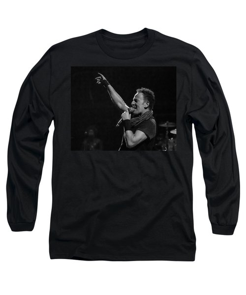 Bruce Springsteen In Cleveland Long Sleeve T-Shirt