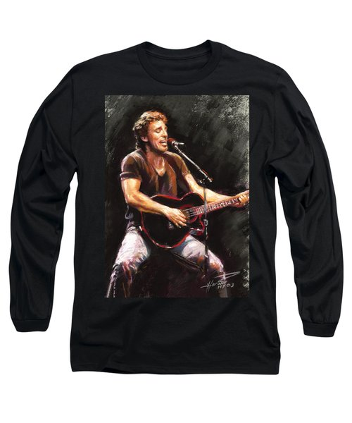 Bruce Springsteen  Long Sleeve T-Shirt by Ylli Haruni