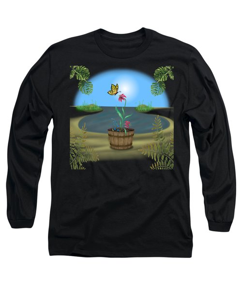 Bucket Butterfly Long Sleeve T-Shirt