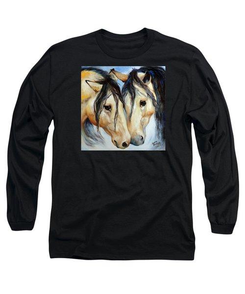 Buckskin Friends Long Sleeve T-Shirt by Marcia Baldwin