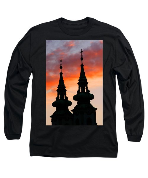 Long Sleeve T-Shirt featuring the photograph Budapest Sunset by KG Thienemann