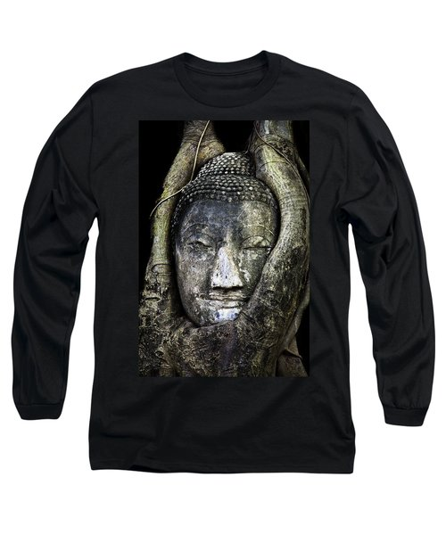 Buddha Head In Banyan Tree Long Sleeve T-Shirt