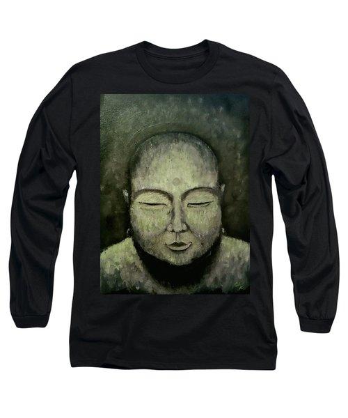 Buddha In Green Long Sleeve T-Shirt