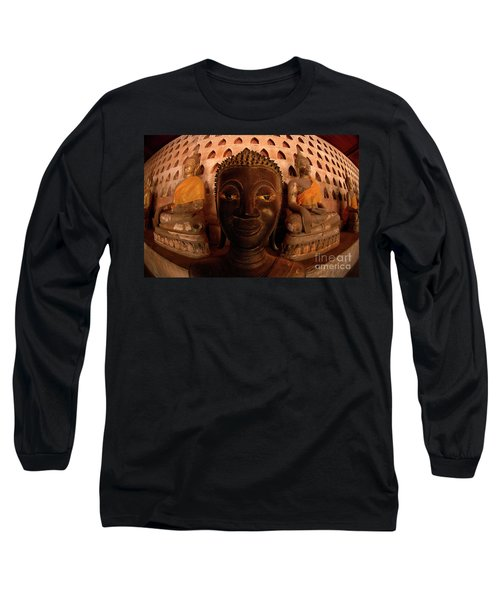 Long Sleeve T-Shirt featuring the photograph Buddha Laos 1 by Bob Christopher