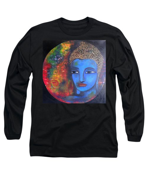 Buddha Within A Circular Background Long Sleeve T-Shirt