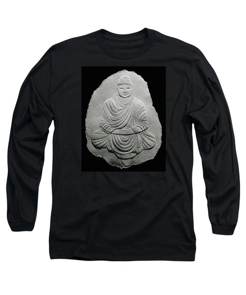 Budha - Fingernail Relief Drawing Long Sleeve T-Shirt