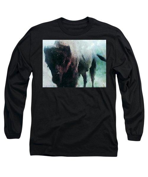 Buffalo American Bison Long Sleeve T-Shirt by Michele Carter