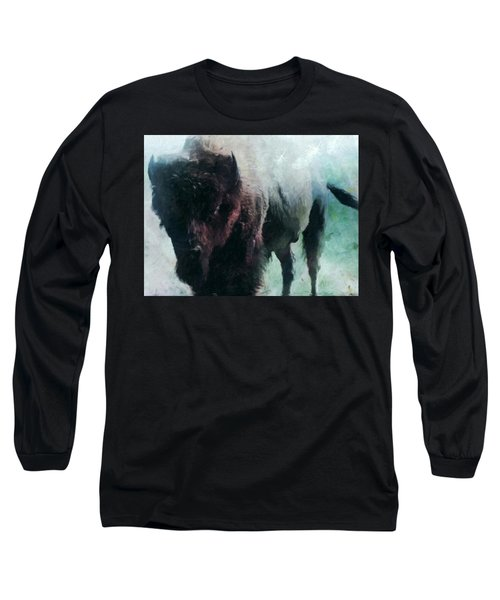 Buffalo American Bison Long Sleeve T-Shirt