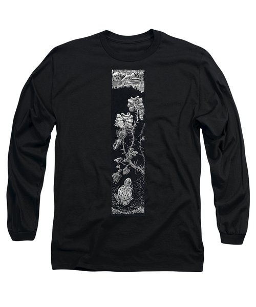 Long Sleeve T-Shirt featuring the drawing Buffalo Burr And Toad by Dawn Senior-Trask