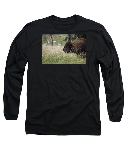 Long Sleeve T-Shirt featuring the photograph Buffalo Gal 20120724_378a by Tina Hopkins