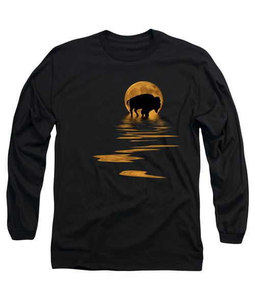 Buffalo In The Moonlight Long Sleeve T-Shirt