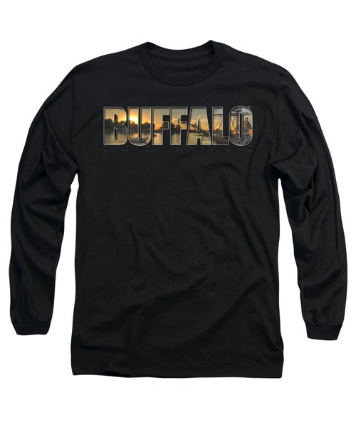 Buffalo Ny Canalside Sunset Long Sleeve T-Shirt