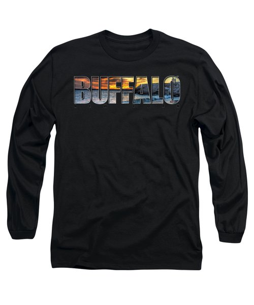 Buffalo Ny Erie Basin Marina Sunset Long Sleeve T-Shirt