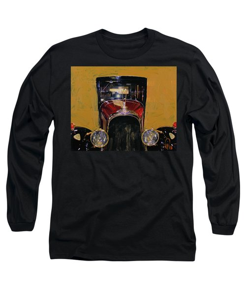 Long Sleeve T-Shirt featuring the photograph Bugatti Vintage Maroon by Walter Fahmy