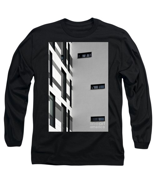 Long Sleeve T-Shirt featuring the photograph Building Block - Black And White by Wendy Wilton
