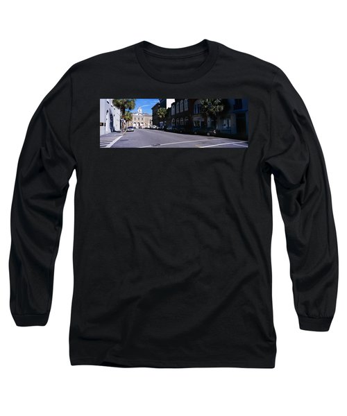 Buildings On Both Sides Of A Road Long Sleeve T-Shirt