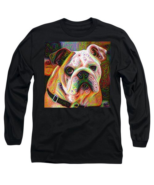 Bulldog Surreal Deep Dream Image Long Sleeve T-Shirt
