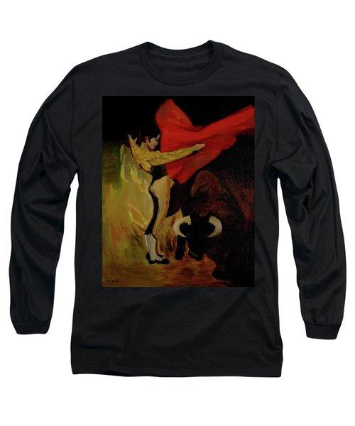 Bullfighter By Mary Krupa Long Sleeve T-Shirt by Bernadette Krupa