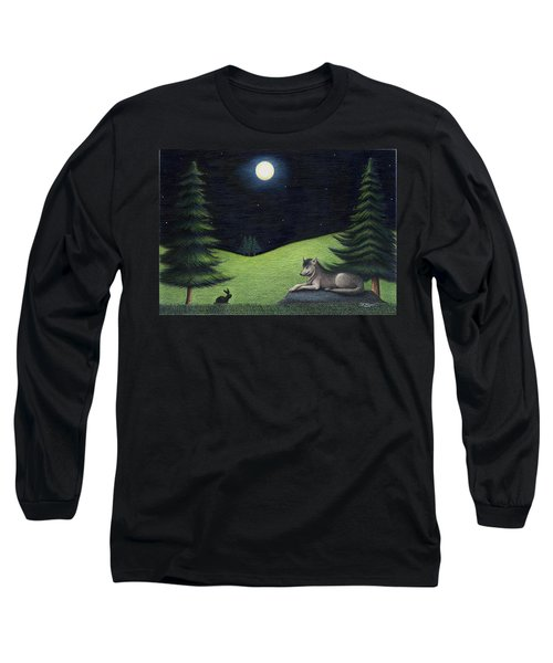 Bunny Visits Wolf Long Sleeve T-Shirt