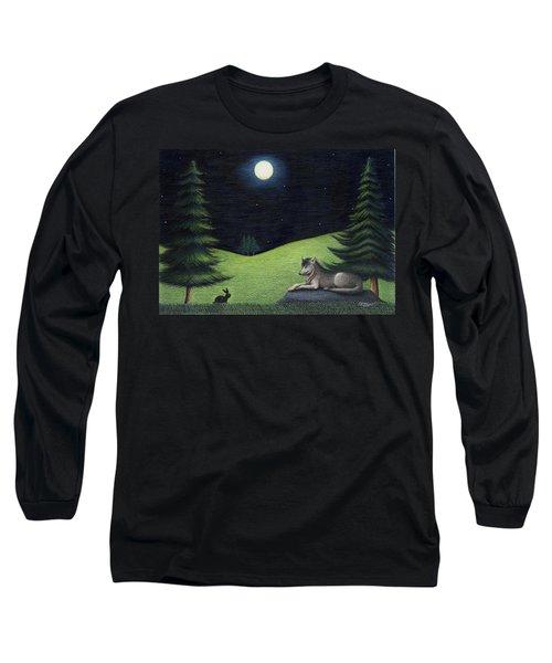 Bunny Visits Wolf Long Sleeve T-Shirt