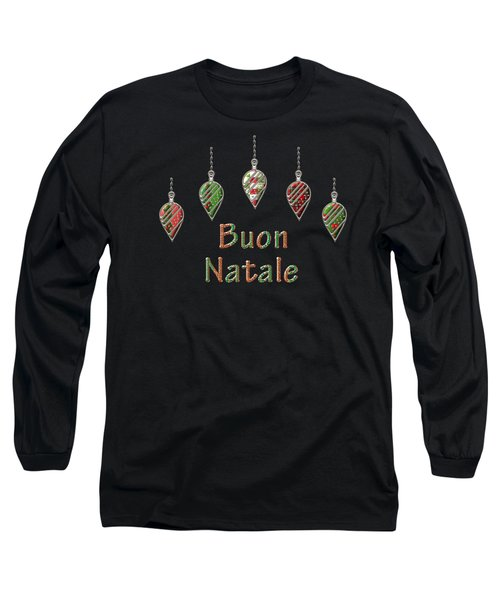 Buon Natale Italian Merry Christmas Long Sleeve T-Shirt by Movie Poster Prints