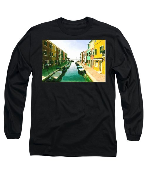 Long Sleeve T-Shirt featuring the digital art Burano Venice by Kai Saarto